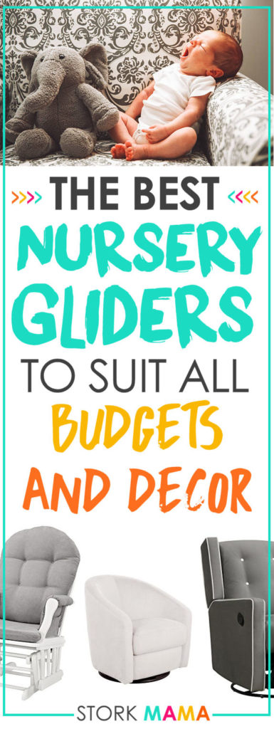 Looking for a great Nursery glider or rocking chair. They are the perfect place to get comfortable and feed baby in peace and quiet. We've found the best rated nursing chairs for all budgets (under $200) and decor. Best Nursery Glider Reviews | Stork Mama
