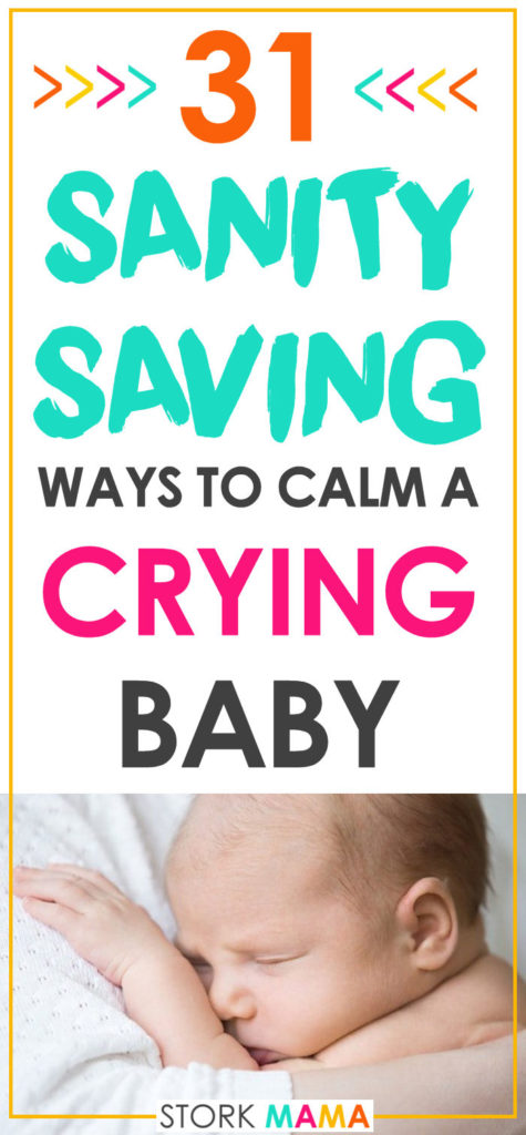 Before your baby can talk, crying id the only way they can tell you somethings wrong. That means they'll cry a lot. Constant crying can take it toll on you. Ignore old advice to let baby-cry it out and find out just how to soothe your little one. 31 Effective Methods to Calm a Crying Baby | Stork Mama
